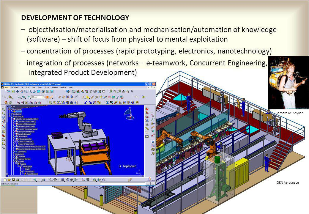 10 GKN Aerospace DEVELOPMENT OF TECHNOLOGY – objectivisation/materialisation and mechanisation/automation of knowledge (software) – shift of focus fro