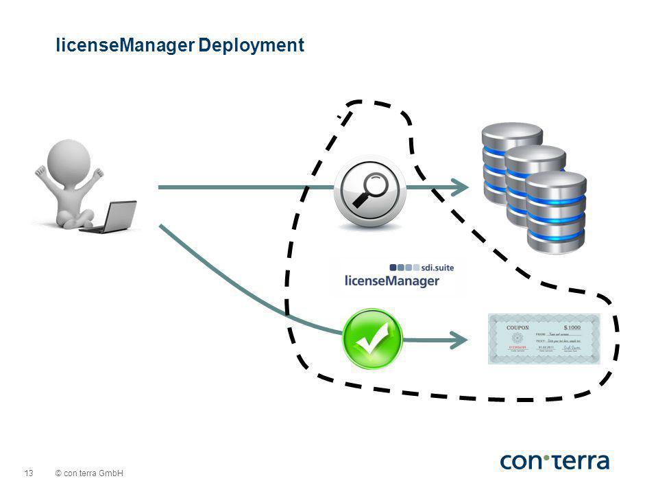 © con terra GmbH 13 licenseManager Deployment