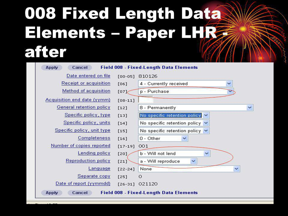 008 Fixed Length Data Elements – Paper LHR - after
