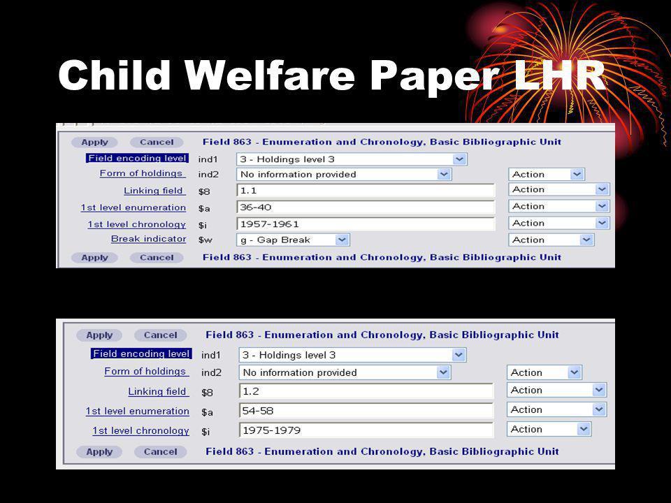 Child Welfare Paper LHR