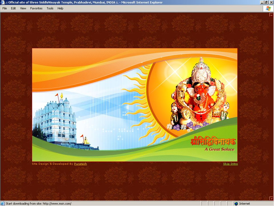 1 Using technology to touch human minds…………….since 1997 A brief presentation about how the Shree Siddhivinayak Ganapati Temple Trust has been using technology to reach out to devotees.