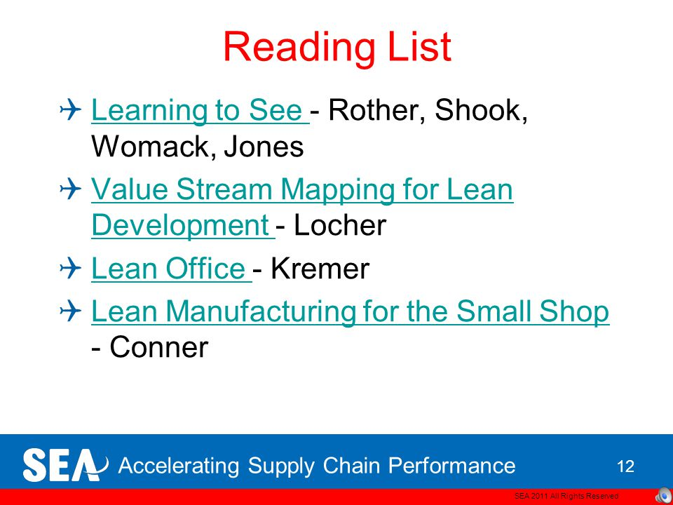Accelerating Supply Chain Performance Problems of VSM The Problem of Over-hype Authors and consultants claim unrealistic benefits and applications for VSM.
