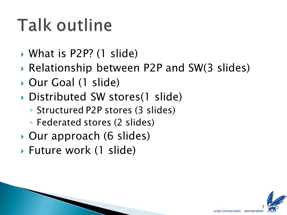 Simulations using SWD from Swoogle and Watson (around 25.000) Integration of privacy in the index Selecting the right ontologies/peers 24