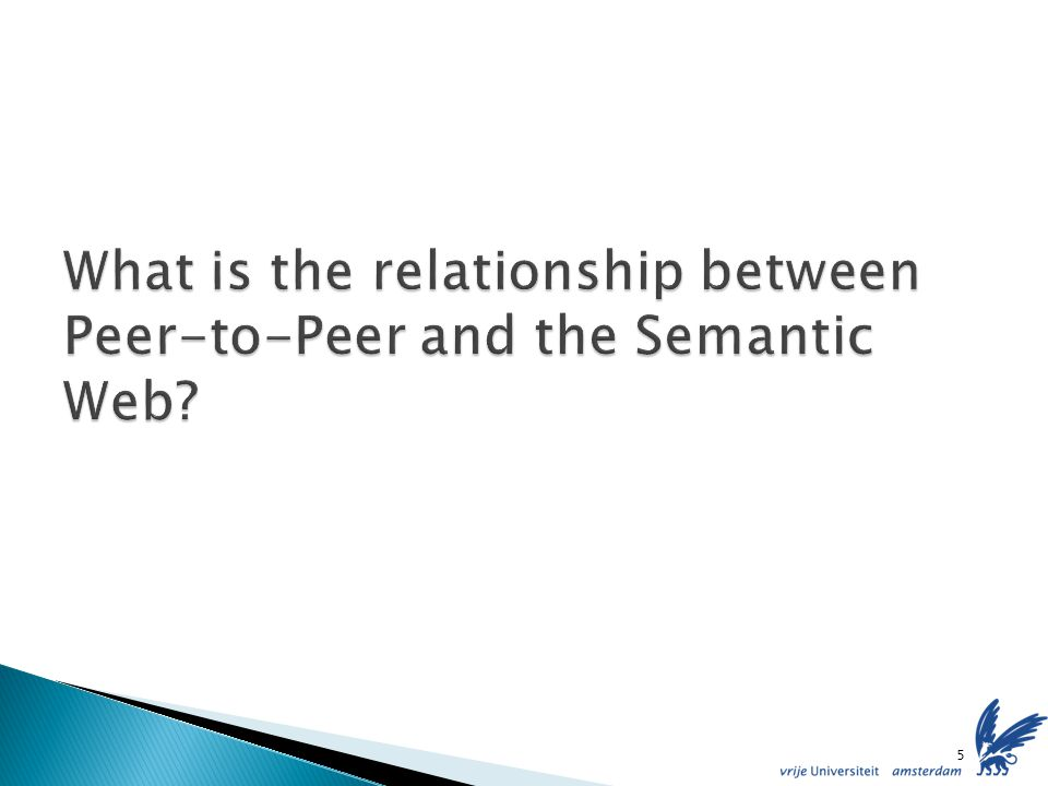 Each peer maintains its ontology and instance data Mappings are (manually) defined between ontologies Thus, a semantic topology is created Queries are posted according to such a schema and forwarded following these mappings Semantic Web counterpart of Federated Databases 16