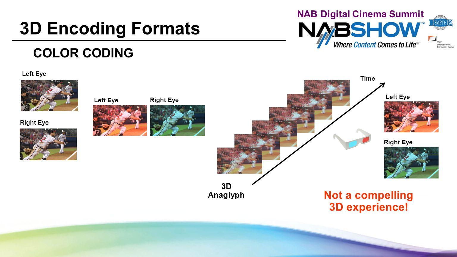 NAB Digital Cinema Summit 3D Codec Vendors