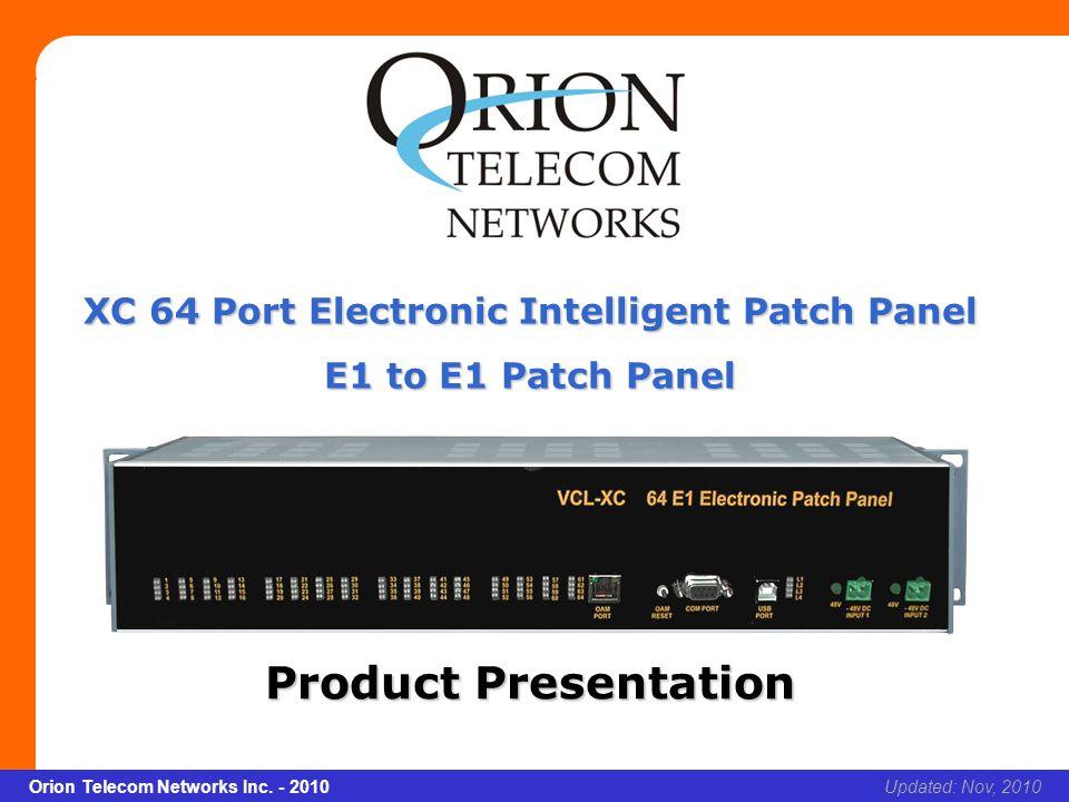 Slide 2 Orion Telecom Networks Inc.