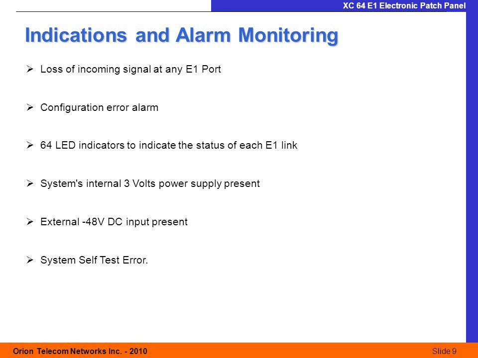 Slide 10 Orion Telecom Networks Inc.