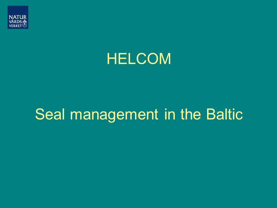 HELCOM Seal management in the Baltic