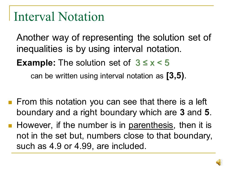 Some examples of graphing solutions x 9 x 12 x 5 3 12 < x 3 x < 5 ( ( [ ) x > 9