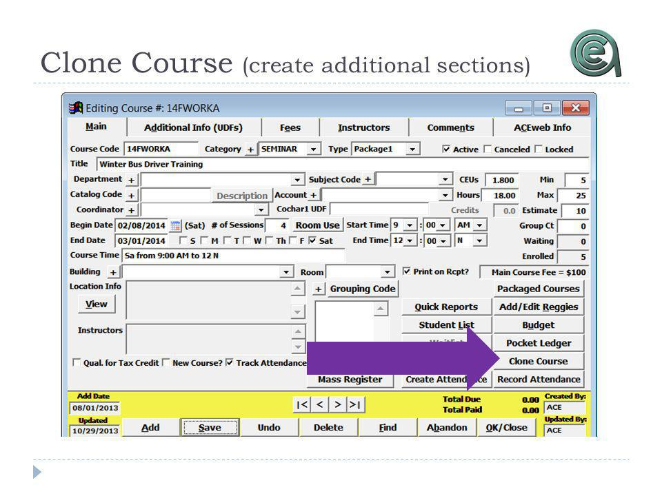 Clone Course (create additional sections)