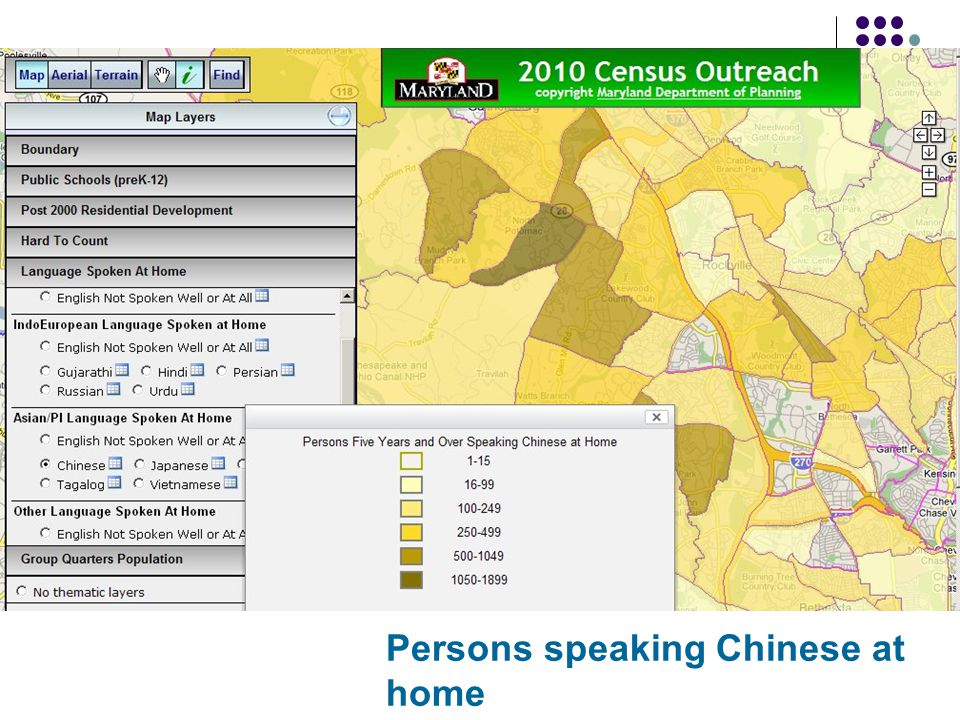 Persons speaking Chinese at home