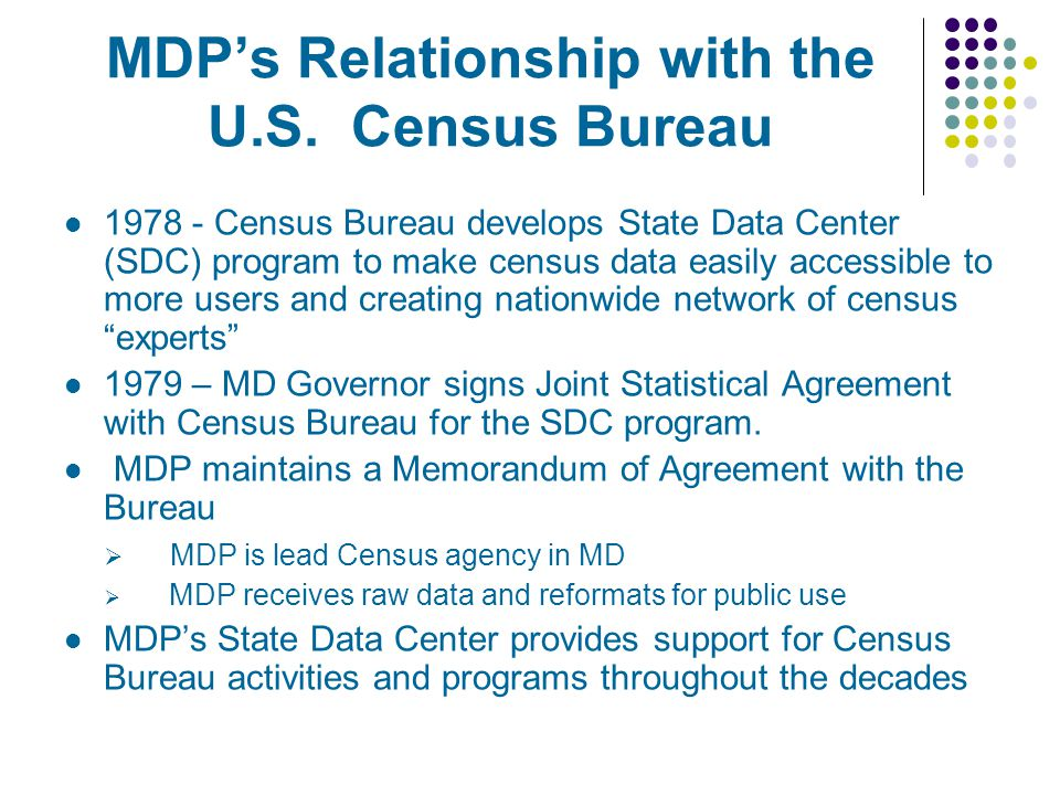 MDPs Relationship with the U.S.
