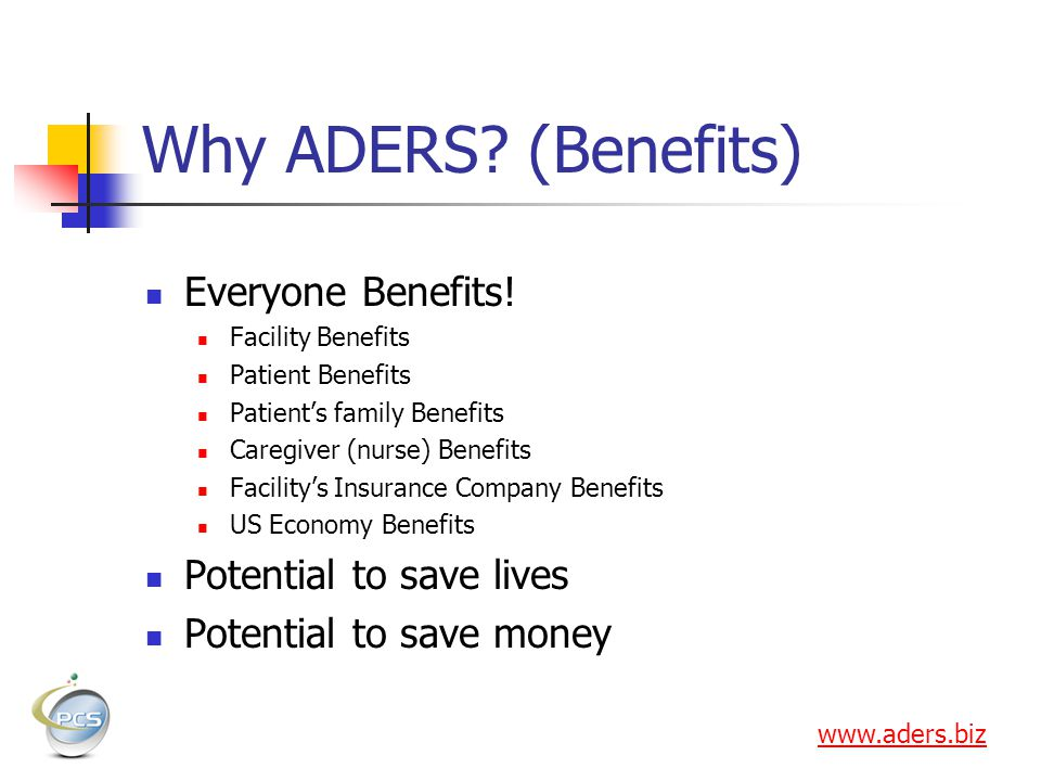 Why ADERS.(Benefits) Everyone Benefits.