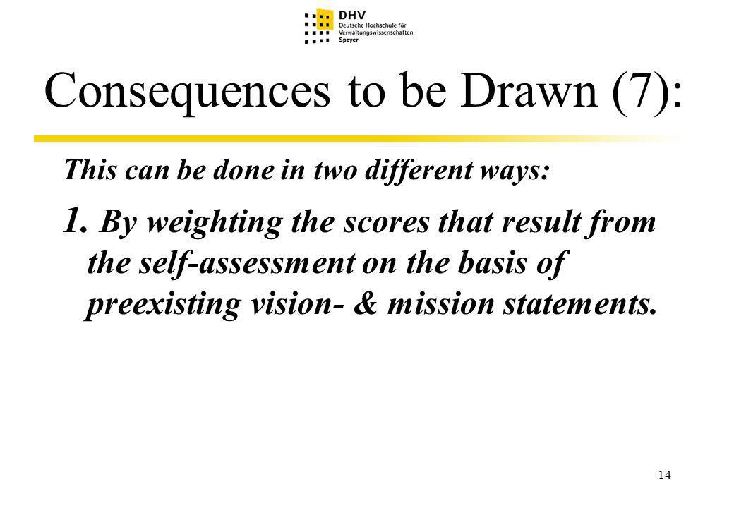 14 Consequences to be Drawn (7): This can be done in two different ways: 1.