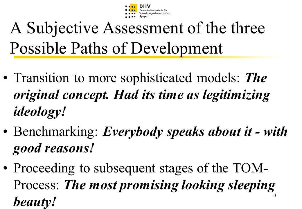 4 Why is Proceeding to Subsequent Stages of the TQM-Process looking most Promising.