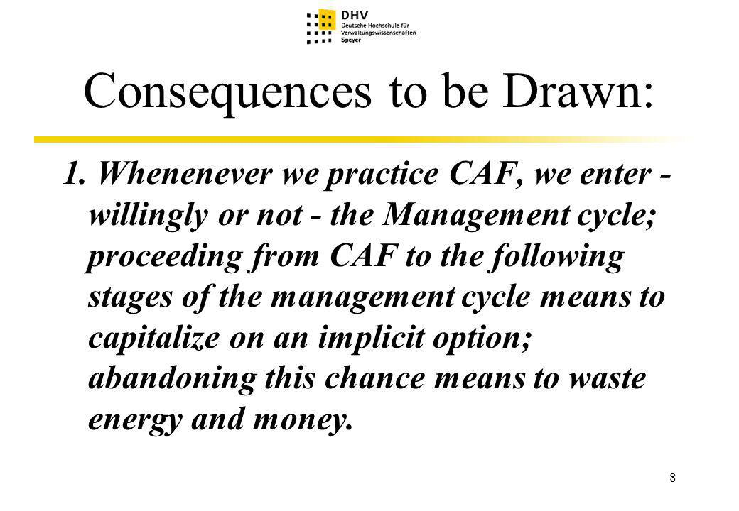 29 The Advantages of CAF Plus in Comparision to a merely extended CAF 2.