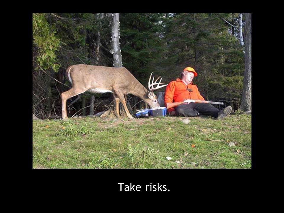 Take risks.