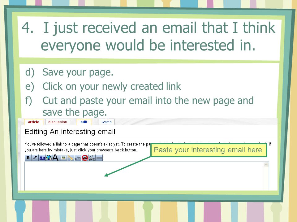4.I just received an email that I think everyone would be interested in.