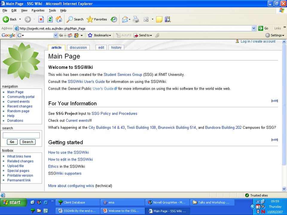I want to add / edit a page in the SSGWiki.
