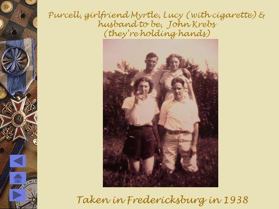 Purcell and girlfriend Myrtle taken near Fredericksburg, Va.