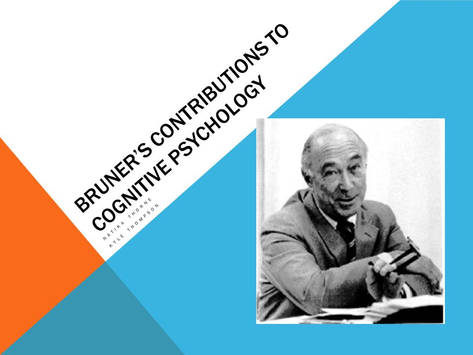 BRUNERS CONTRIBUTIONS TO COGNITIVE PSYCHOLOGY NATIKA THORNE KYLE THOMPSON