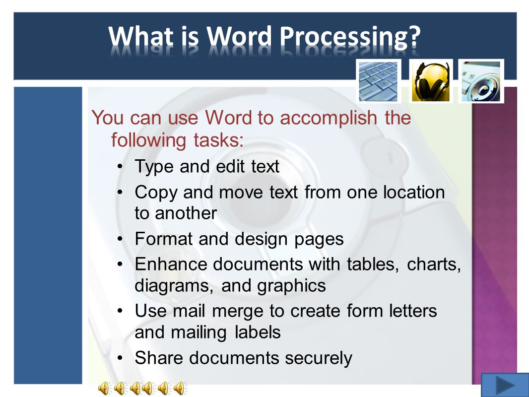 What is Word Processing.