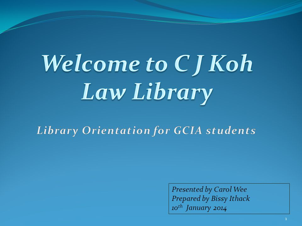 Outline C J Koh Law Library- History, Collection, & Services.