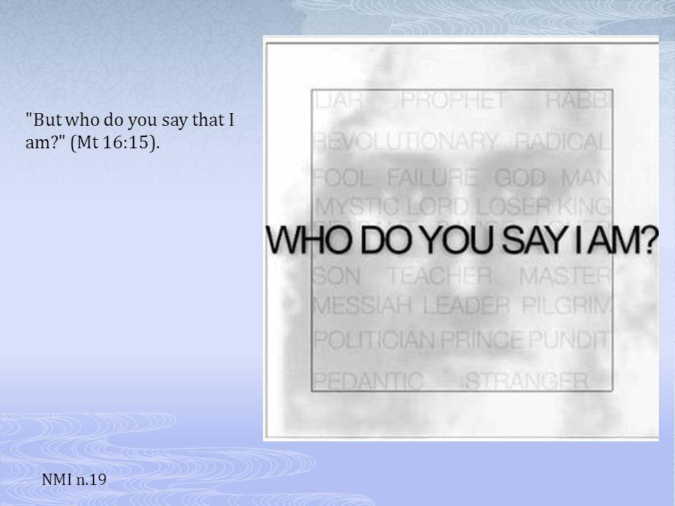 Jesus asks his disciples what