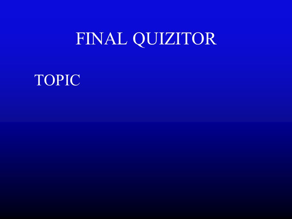 XII 1000A Topic XII1000Answer Go To Double Quizitor