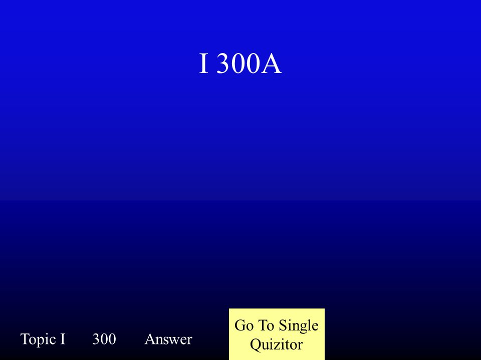 I 300Q Topic I300Question