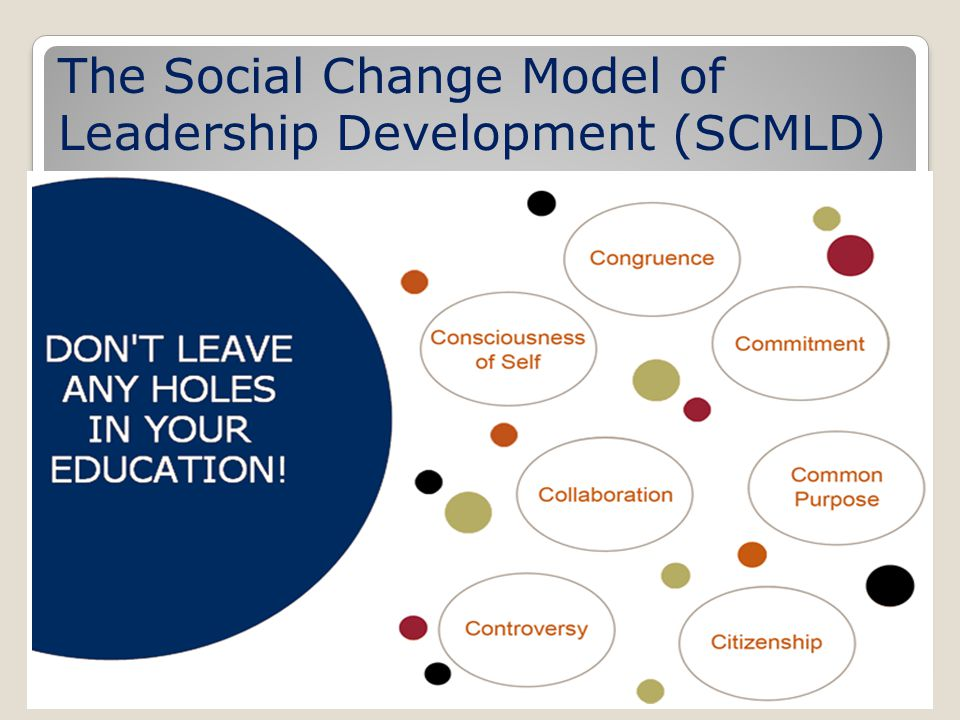 The Social Change Model of Leadership Development (SCMLD)