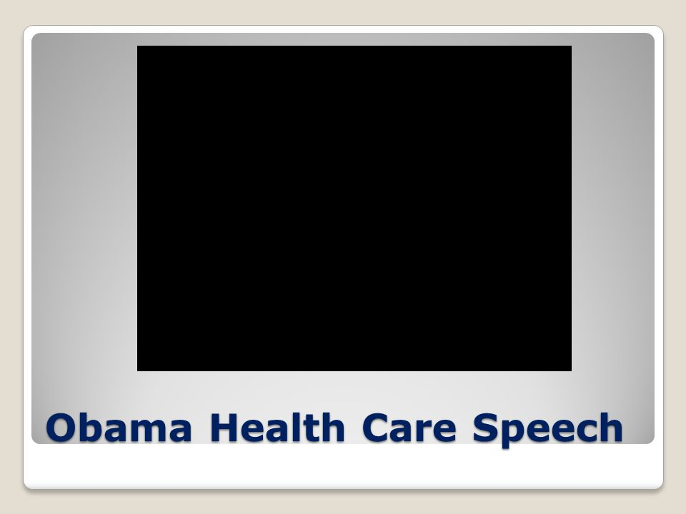 Obama Health Care Speech