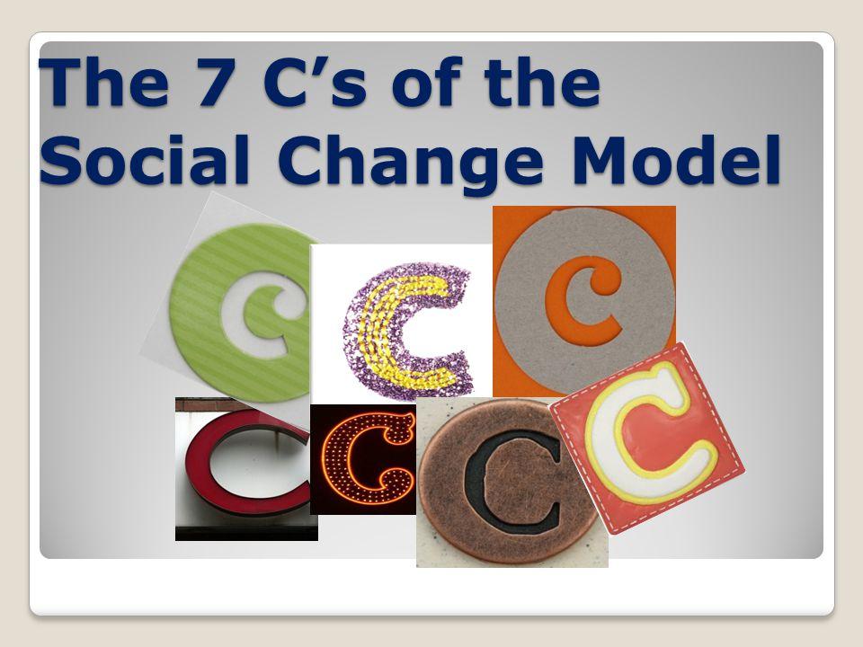 The 7 Cs of the Social Change Model