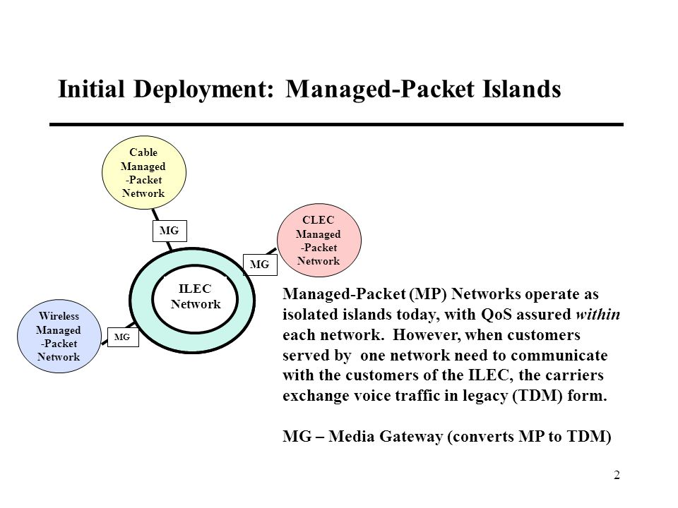 3 Forcing Voice Traffic Exchange in Legacy Format is Artificial and Inefficient Where the ILEC has deployed a Managed- Packet Transport network, there is no technical reason for interconnection and traffic exchange to occur in TDM form.
