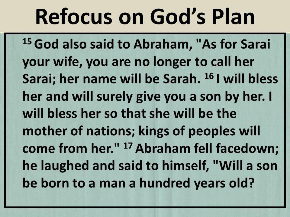 15 God also said to Abraham,