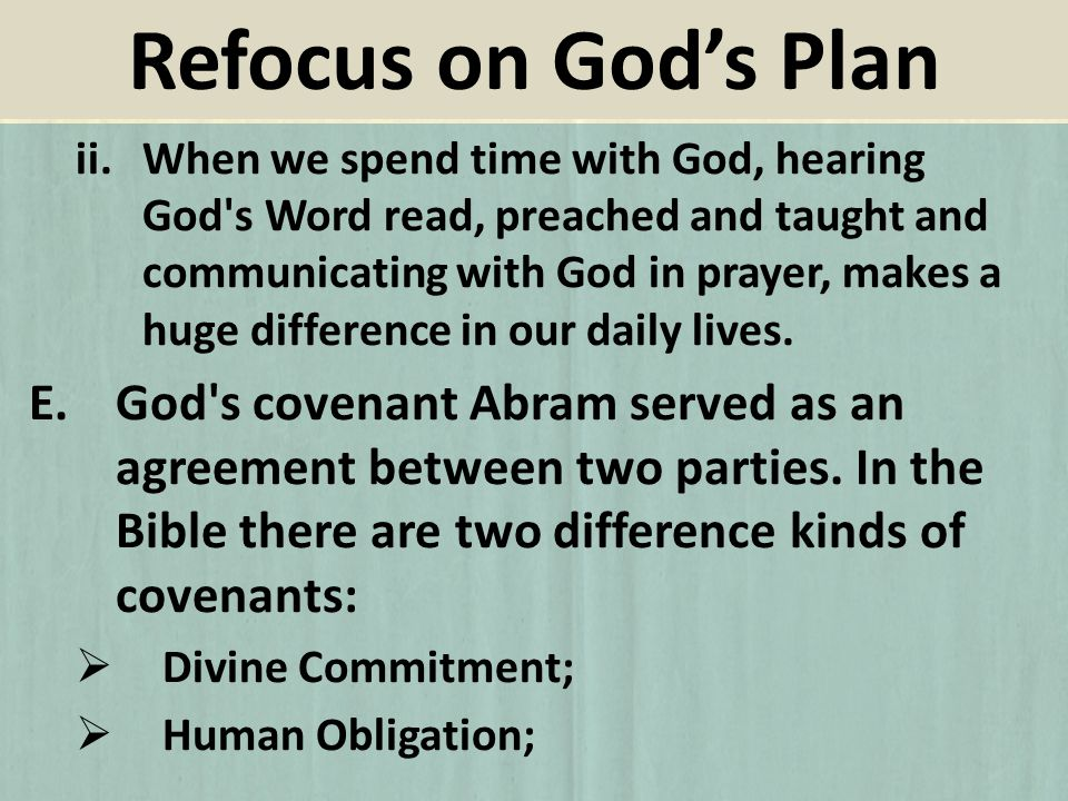 ii.When we spend time with God, hearing God's Word read, preached and taught and communicating with God in prayer, makes a huge difference in our dail