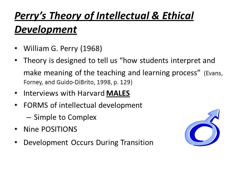 Perrys Theory of Intellectual & Ethical Development William G.