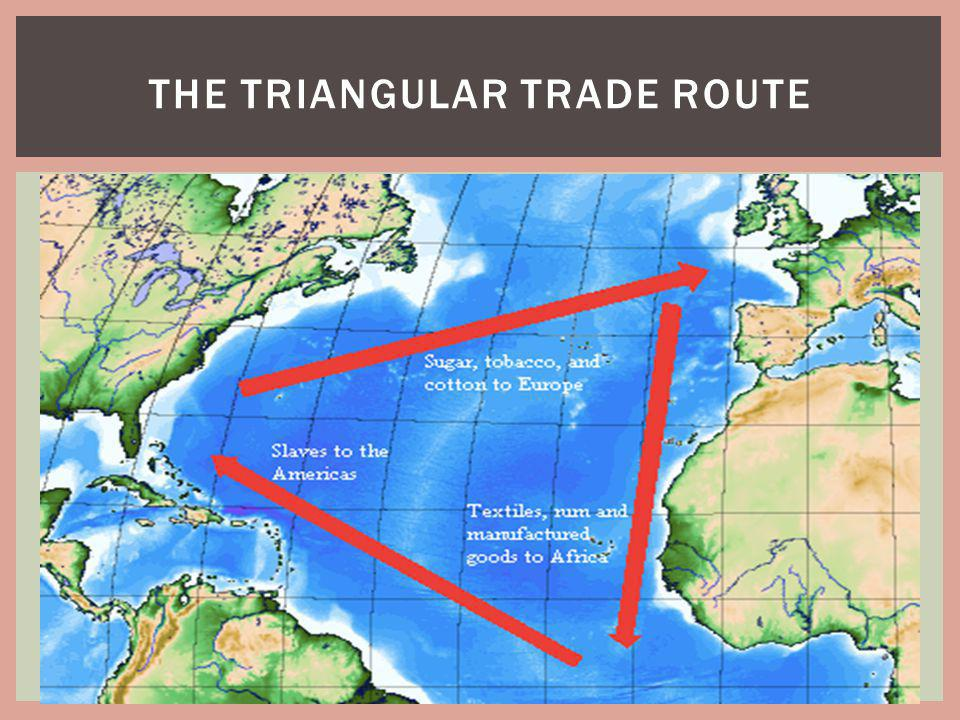 THE TRIANGULAR TRADE ROUTE
