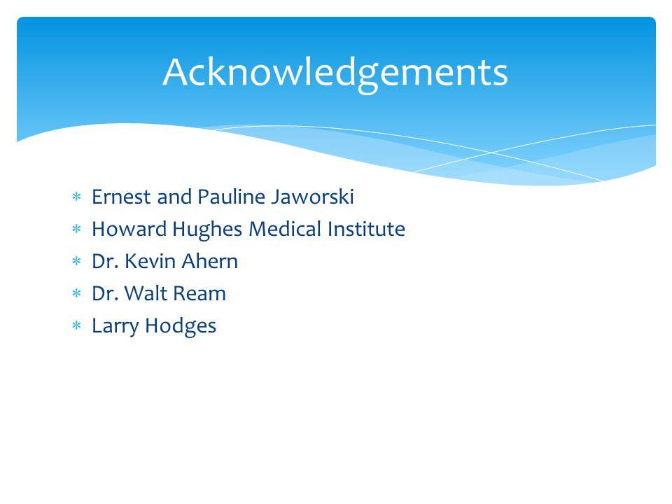 Ernest and Pauline Jaworski Howard Hughes Medical Institute Dr.