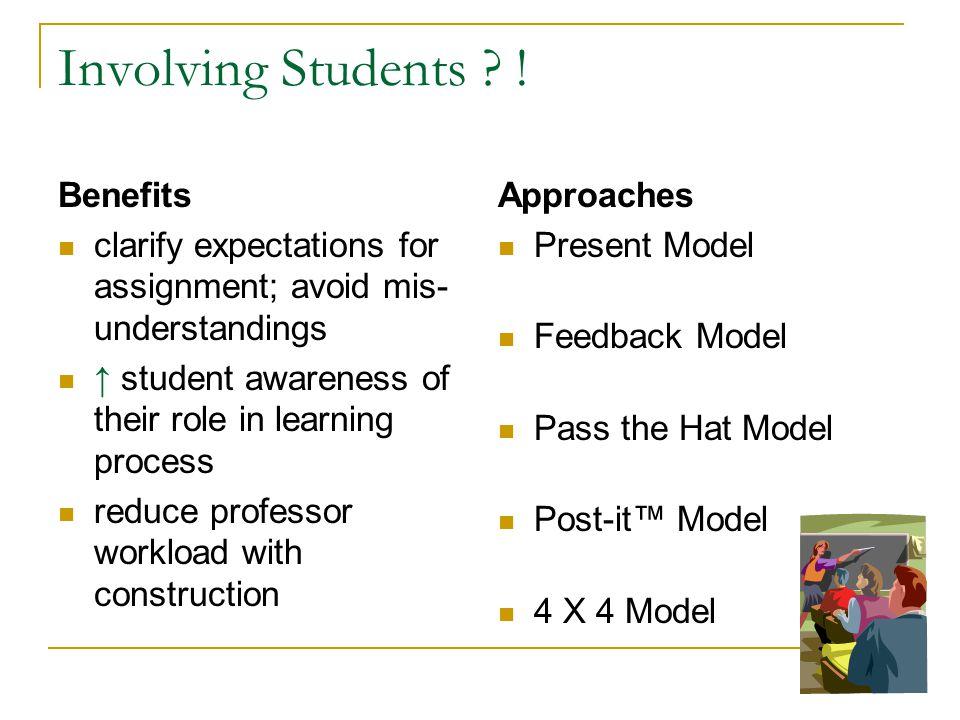 Involving Students .