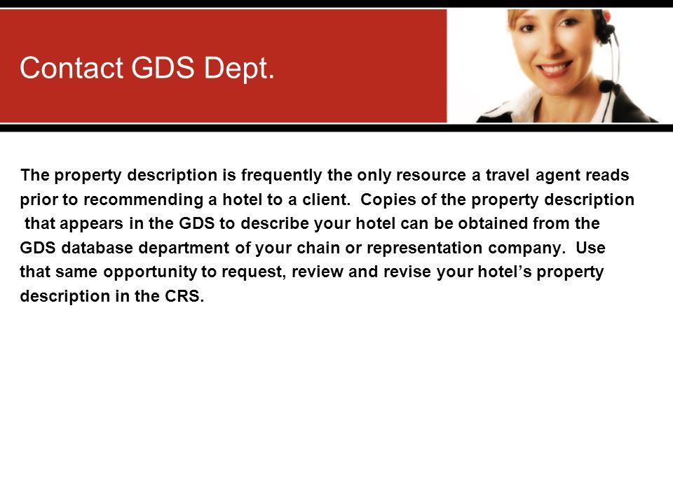 Contact GDS Dept.