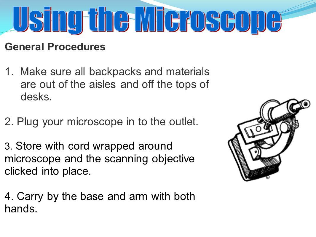 General Procedures 1.