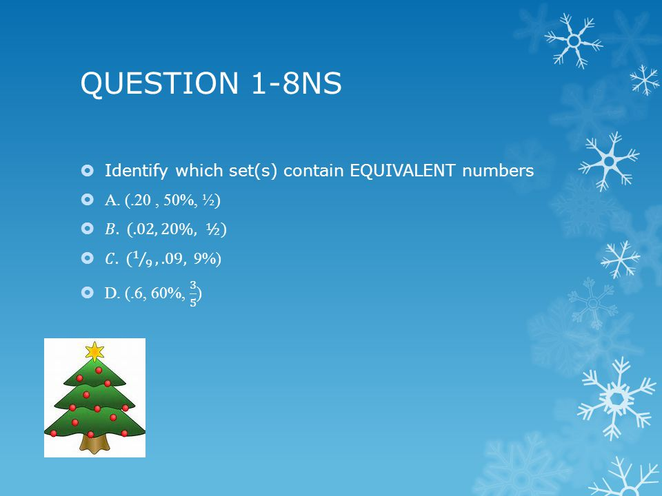 QUESTION 1-8NS