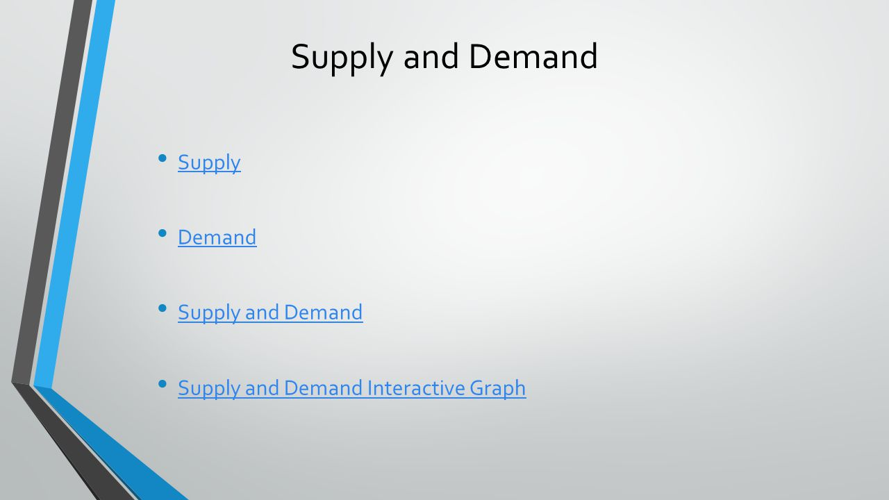 Supply and Demand Supply Demand Supply and Demand Supply and Demand Interactive Graph