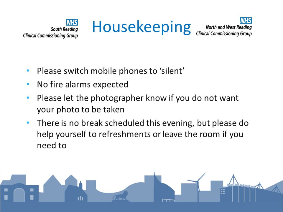 Thank You Thank you for joining us at our Call To Action event Please continue to feedback to us: nhs.calltoaction@nhs.net.nhs.calltoaction@nhs.net Further details can be found on our website: www.southreadingccg.nhs.uk www.nwreadingccg.nhs.uk Continue to follow the discussion on Twitter @SReadingCCG / @NWReadingCCG or by finding #calltoaction