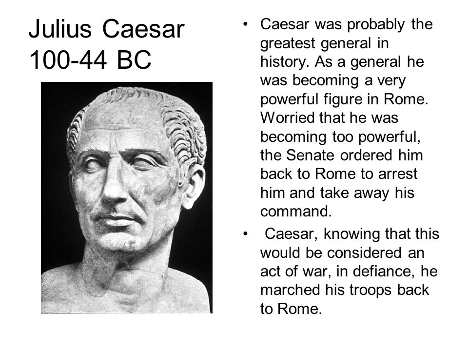 Caesar Becomes Dictator Caesar seized power from the Senate and became dictator of the entire Roman Empire.