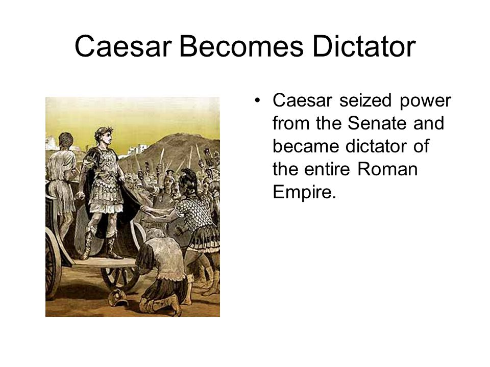 The Death Of Caesar A group of senators under the leadership of Brutus, a young senator and Caesars friend, murdered Caesar on, March 15 th, also known as the Ides of March, 44 BC.