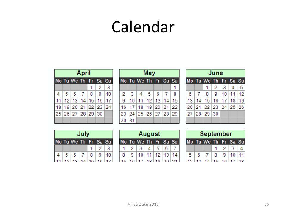 Calendar 56Julius Zuke 2011