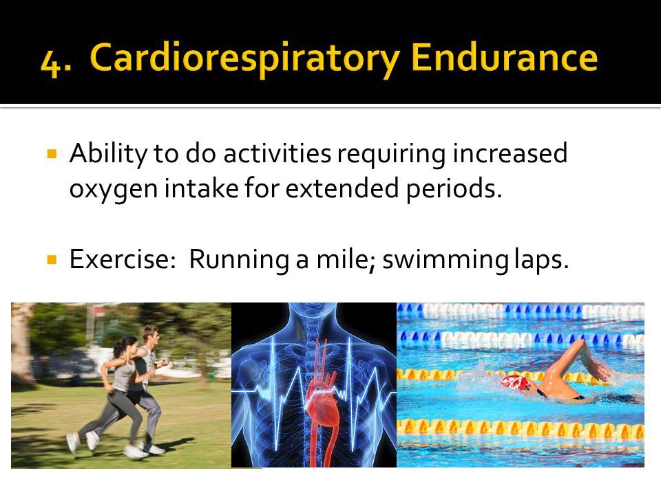 High ratio of lean body tissue to fat body tissue. Aerobic exercises.