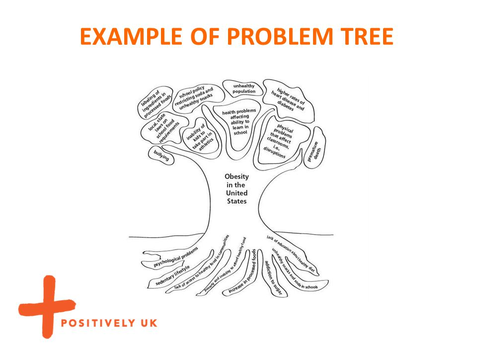 EXAMPLE OF PROBLEM TREE